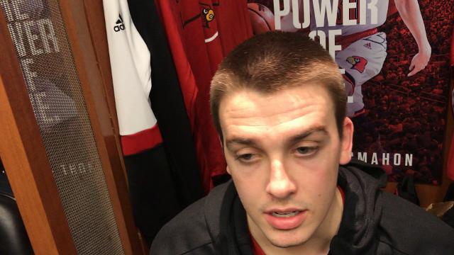 Ryan McMahon speaks after Louisville's season ends