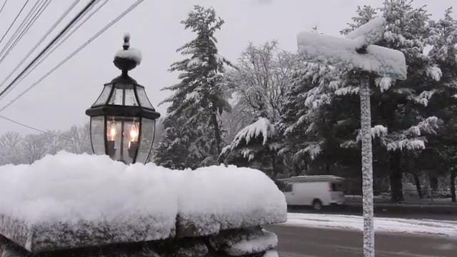 The first day of spring brings more snow than Louisville saw all winter.