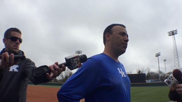 UK baseball coach Nick Mingione previews Louisville game