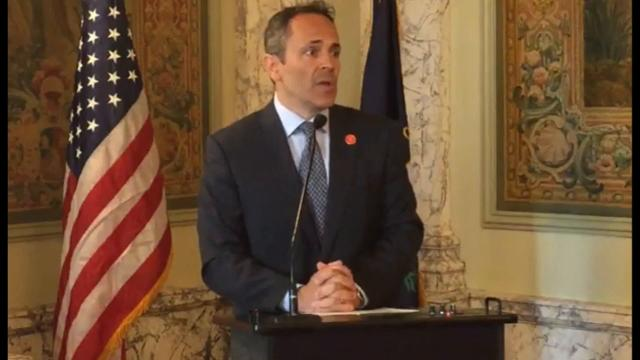 Gov. Matt Bevin on Monday said he will veto the tax reform bill and the entire two-year budget proposal that Kentucky's Republican-run legislature passed last week.