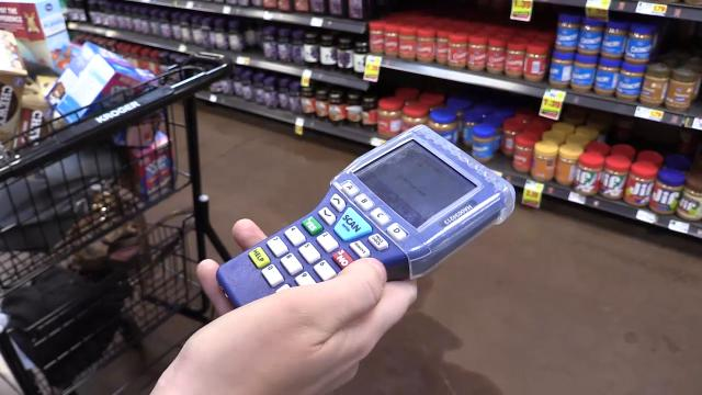 The Kroger on South 2nd Street is the first in the Louisville area to provide the Scan, Bag and Go option.
