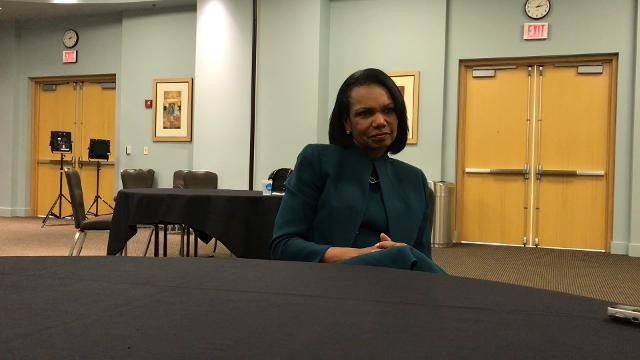 Condoleezza Rice discusses the positions of the Commission on College Basketball in an interview with Courier Journal.