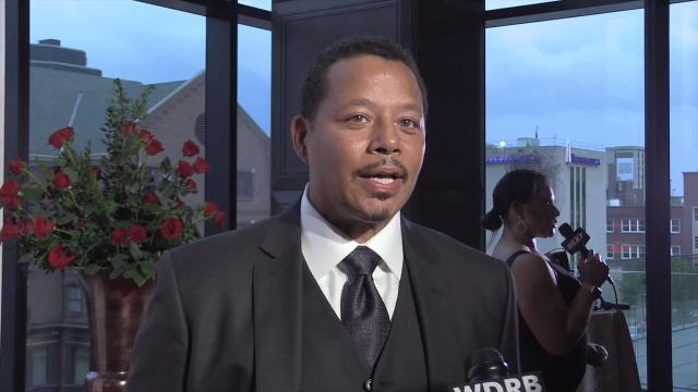 Actor Terrence Howard, of Empire fame, arrives at the Trifecta Gala ahead of the Kentucky Derby.