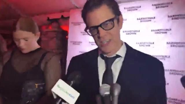 The actor and stunt performer, known from the show 'Jackass' came to the Derby Eve party.