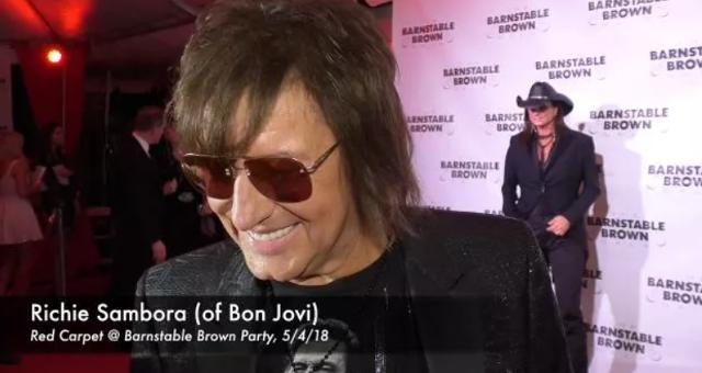 Richie Sambora speaks with the media at the Barnstable Brown Derby Eve Gala.