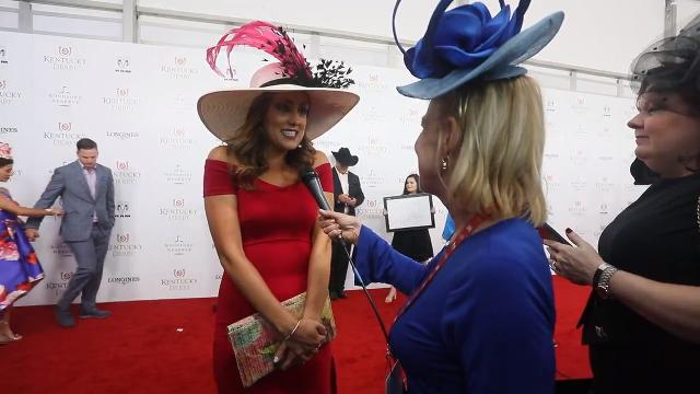Allison Williams stopped on the red carpet to talk to Courier Journal's Kirby Adams. Williams said coming to the Kentucky Derby is on her bucket list.