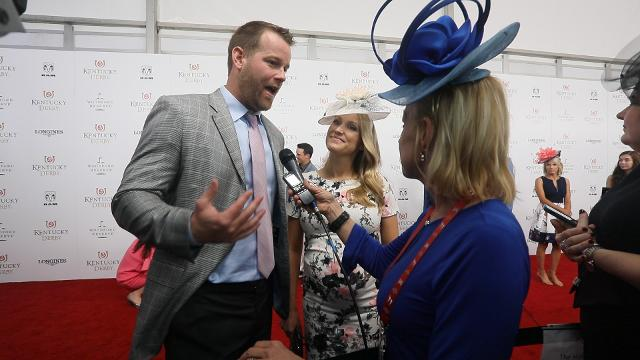 Brian Brohm, co-offensive coordinator & quarterbacks coach at Purdue, talked to Courier Journal's Kirby Adams on the red carpet at Kentucky Derby 2018.