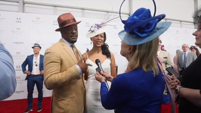 Actor Blair Underwood talked to Courier Journal's Kirby Adams on the red carpet at Churchill Downs at Kentucky Derby 2018.