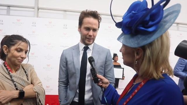 Actor Taylor Kitsch, well known as 'Riggins' from the Friday Night Lights TV show,  talked to Courier Journal's Kirby Adams on the red carpet at Churchill Downs at Kentucky Derby 2018.