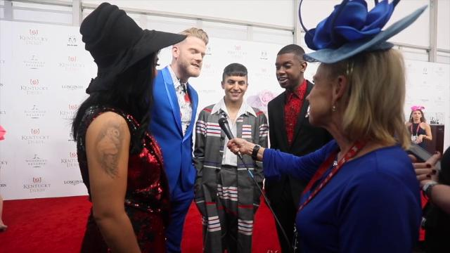 Members of the a cappella group Pentatonix talked to Courier Journal's Kirby Adams on the red carpet at Churchill Downs at Kentucky Derby 2018.