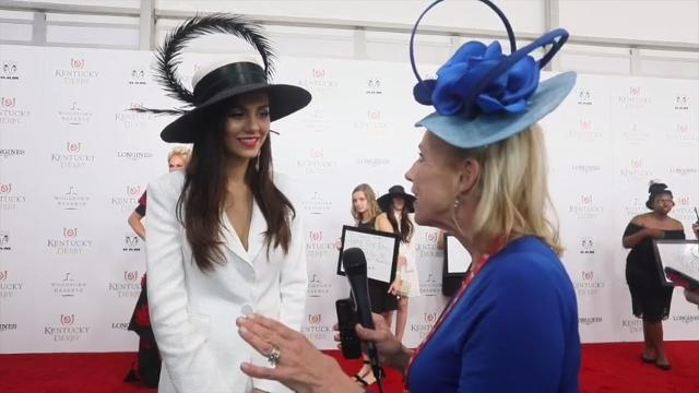 Actress and singer Victoria Justice talked to Courier Journal's Kirby Adams on the red carpet at Churchill Downs at Kentucky Derby 2018.