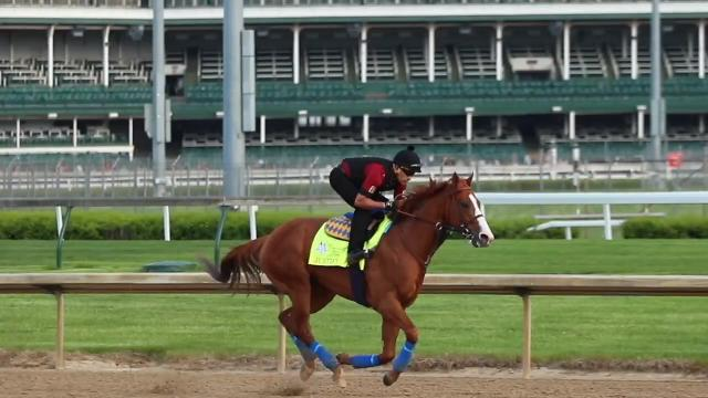 'He's like a franchise player' said Baffert before Justify won the 2018 Kentucky Derby. Baffert also talked about jockey Mike Smith.