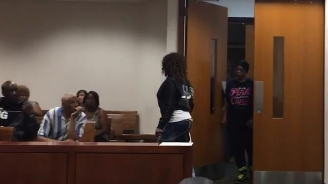 Katina Powell was in court to respond to an eviction notice from the Louisville Metro Housing Authority.