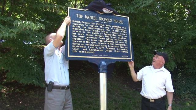 Revolutionary War marker unveiled in Hockessin