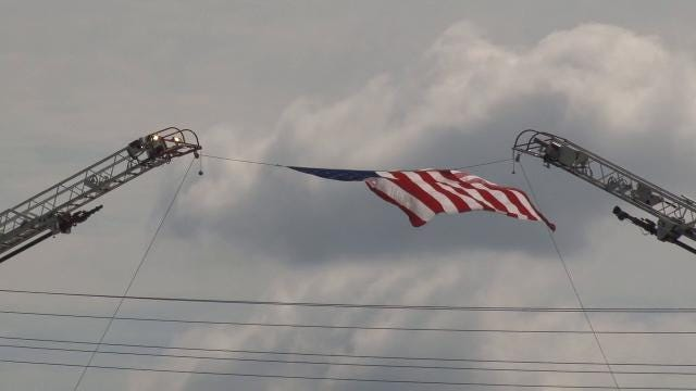 Raw Video: Body of fallen soldier travels from Dover to Freehold, N.J.
