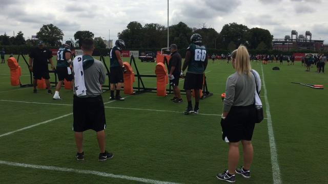 Eagles shake up O-line as camp begins