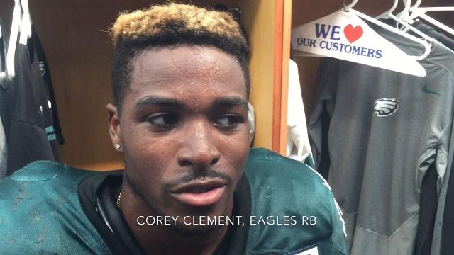Corey Clement and Wendell Smallwood brush distractions aside from area friends, family as they pursue their NFL careers.