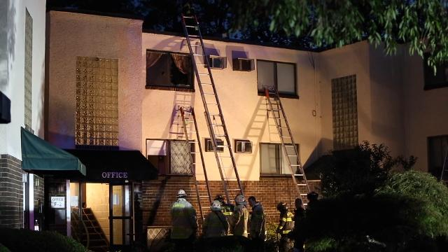 Fire damages Wawaset Place Apartments in Wilmington