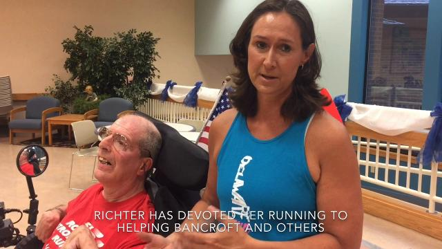 Upcoming NYC Marathon runner continues tradition of running for benefit of others, including long-time friend Bill Bancroft.