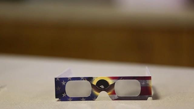 Protective glasses to watch the upcoming eclipse with have been hard to come by with local business and libraries quickly selling out.