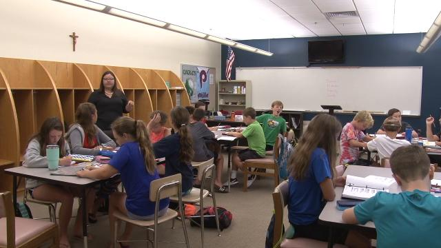 An education boot camp this week at St. Edmonds Academy is helping middle school students prepare for the start of the school year.  8/16/17