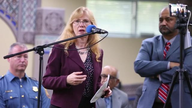 Stephanie Hansen, D-10th District, said opposition to a prayer from the Quran at a Senate session in April is still felt, particularly in Kent and Sussex counties. She was speaking at a meeting on a racism and terrorism held at a Bear mosque.
