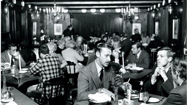 Men were once required to wear jackets and ties to restaurants, like the Columbus Inn in Wilmington and the Hotel du Pont's Green Room. But no longer. Casual elegance has long been in style.