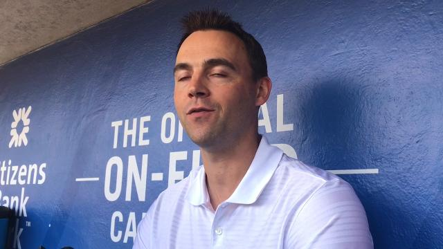 Phillies GM Matt Klentak discusses Vince Velasquez after announcing the righthander will have season-ending surgery.