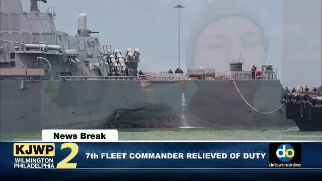 7th Fleet Commander relieved of duty; NJ sailor among the missing; Mexico travel warning