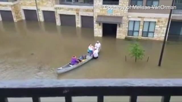 Dover native Melissa VanOrman waits in her Houston-area apartment for Hurricane Harvey floodwaters to recede.