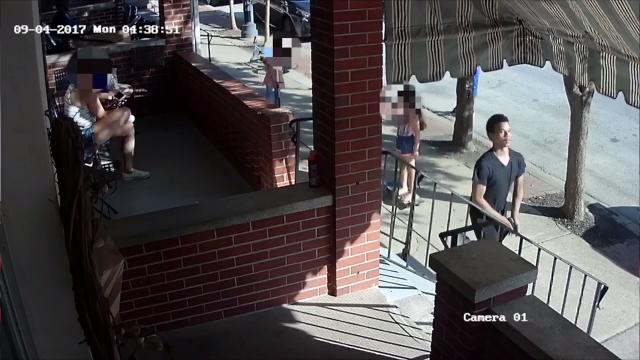 Footage shows Little Italy shooting