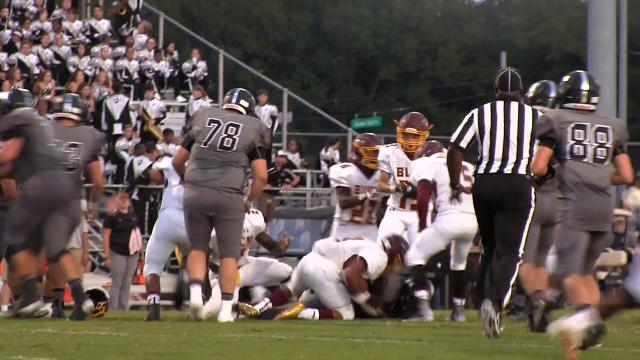 Milford fumble recovery in the 2nd quarter