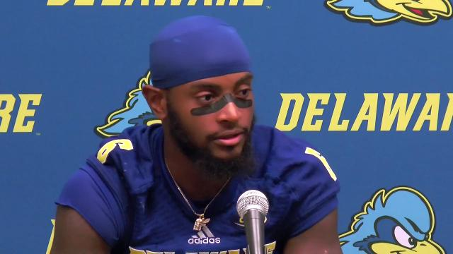 Delaware receiver Jamie Jarmon broke through against Cornell, breaking a touchdown drought and making 8 catches for 88 yards.