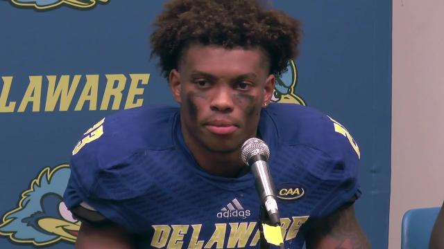 Delaware's defensive back Nasir Adderley said his team is ready to take on James Madison, two Saturdays after the Hens' 41-14 win against Cornell, when he had a 55-yard interception return.