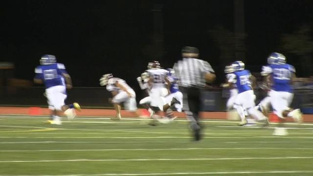 Dover's Javon Peace with a 92 yard touchdown run