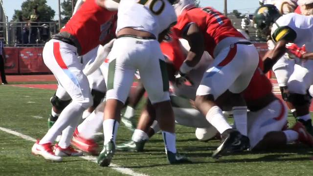 Delaware State's defense stops Norfolk's 4th and goal attempt