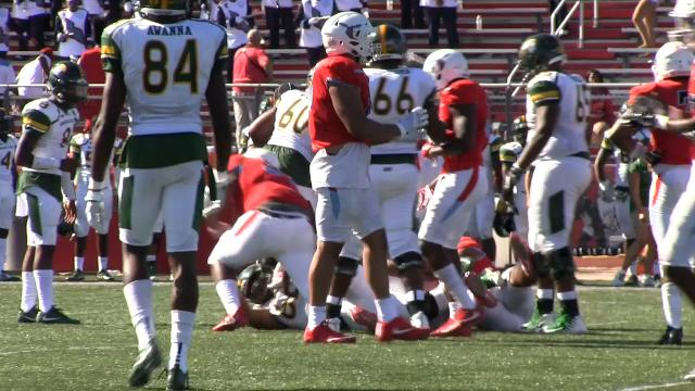 Delaware State's Devin Adams holds back Norfolk's offense