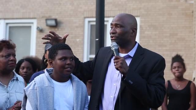 Salome Thomas-EL has been reinstated as head of Thomas Edison Charter School. The community held a rally in support for the well loved educator.