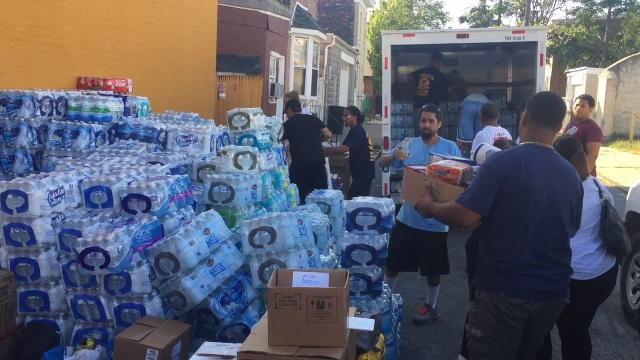 Water, diapers and first aid supplies were some of the goods collected in Wilmington recently to help victims of Hurricane Maria in Puerto Rico.  9/28/17