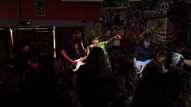 WARNING: MATURE LANGUAGE: John Gallagher Jr. joined his old band Annie's Autograph at the 1984 rock club Sunday. The show was in honor of Daryl Devlin, who died earlier this year.  10/2/17