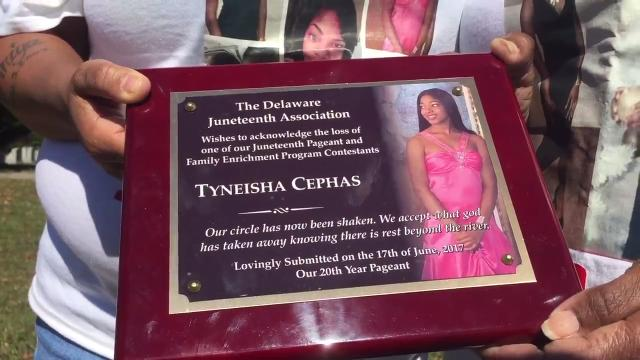 Family and friends stood by Tynesia Cephas' graveside celebrating what should have been her 17th birthday.  10/3/17