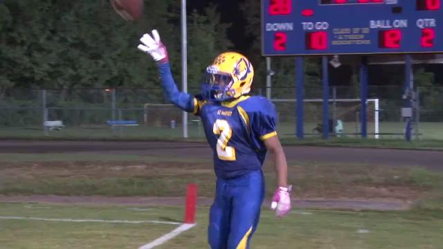 Naz'Aire Miller catches TD while falling out of bounds