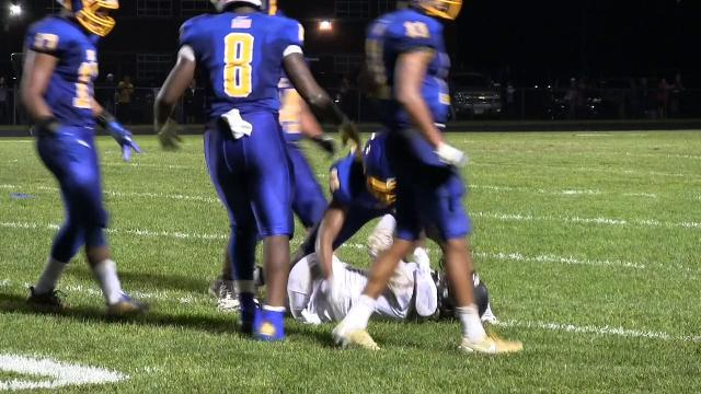 Sack by Sussex Central's Brian Evans