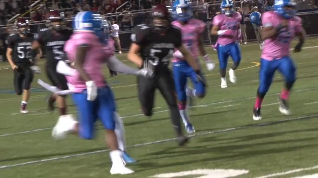 Middletown's Ra'Quon Green with the pick 6