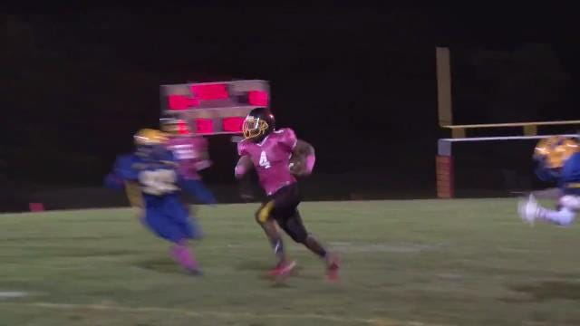 Glasgow's Grinnell shrugs defender to pick up first down