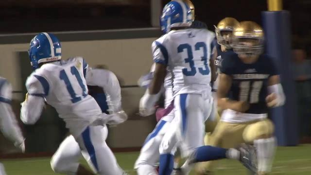 Middletown's Tamar Teagle with the pick 6