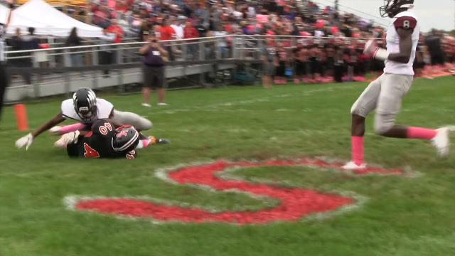 William Penn's Najzhier Banks dives in for a touchdown