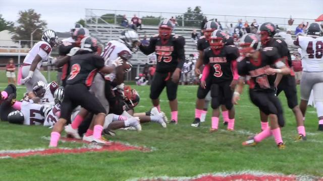 Hodgson's Darius Hale with a touchdown in the 3rd quarter