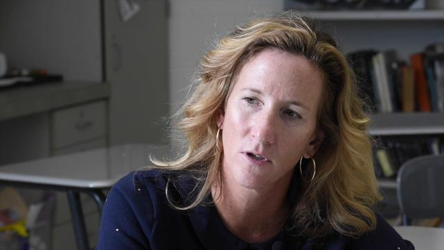 Sussex Tech's Virginia Forcucci, Delaware's 2018 Teacher of the Year, talks about teaching her students at Sussex Technical High School.