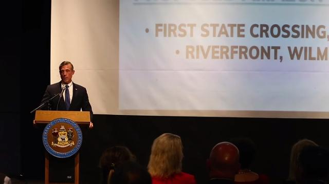 Governor John Carney announced three potential sites Amazon could build it's next headquarters Thursday at the Delaware Contemporary.
